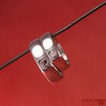 Klasik nerezový snubní prsten a moissanite stříbro 4117 (2)