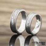 snubní prsteny Luna damasteel stříbro moissanit k 0131 (5)