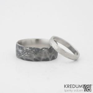 prsten Natura - kovaný povrch