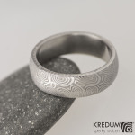 1 kolečka25, damasteel snubní prsten, struktura